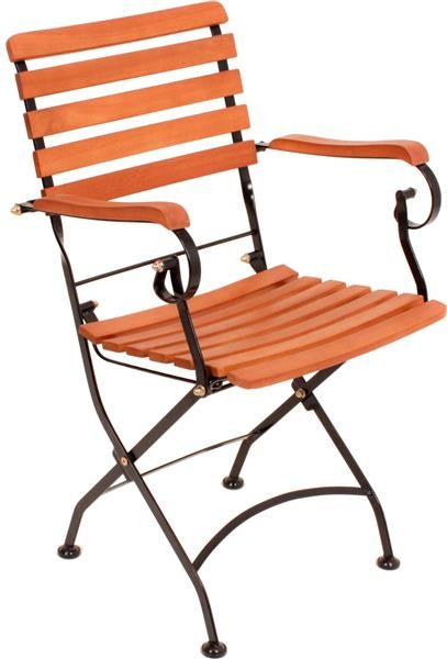 Klapparmstuhl Wien Eukalyptus Gartenstühle Holz Stühle ❶❷❸