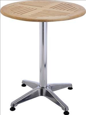 Tisch BISTRO, rund, Alu silber natur