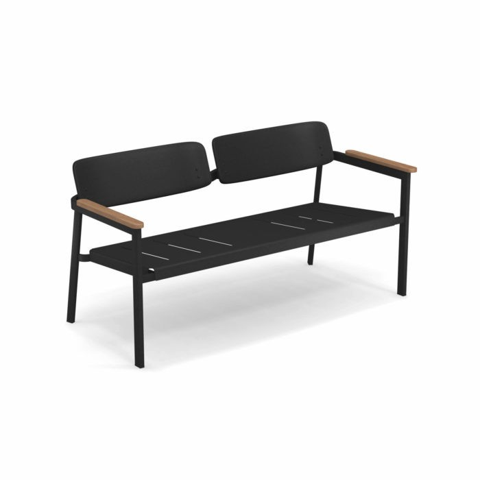 emu Sofa 2-Sitzer Shine Schwarz günstig online kaufen