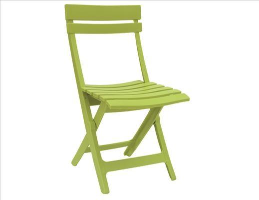 GROSFILLEX Miami Klappstuhl h-grün Vollkunststoff