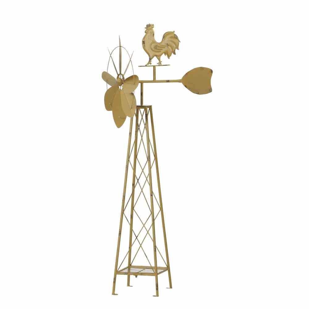 SIENA GARDEN Windrad Hahn, Metall pulverbeschichtet gelb, 52x46x133cm günstig online kaufen