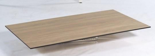 """SonnenPartner Tischplatte """"Compact"""" HPL Eiche sägerau"""