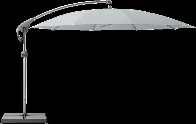 Glatz Sonnenschirm Pendalex P+ rund Ø 350 cm ohne Volant - Chrome günstig online kaufen