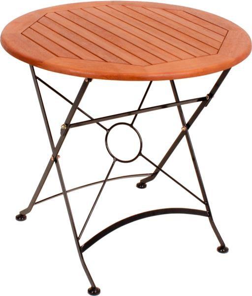 Tisch Wien Rund Klappbar Natur Gartenmöbel Holz Tische