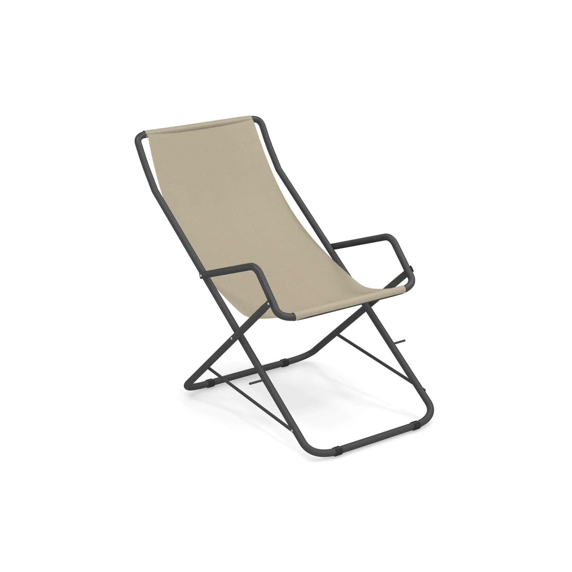 emu liegestuhl bahama antikeisen beige online kaufen. Black Bedroom Furniture Sets. Home Design Ideas