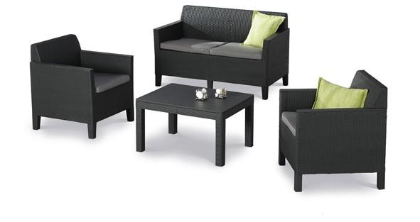 Best Freizeitmöbel Lounge-Gruppe Amalfi, 4-teilig, klein