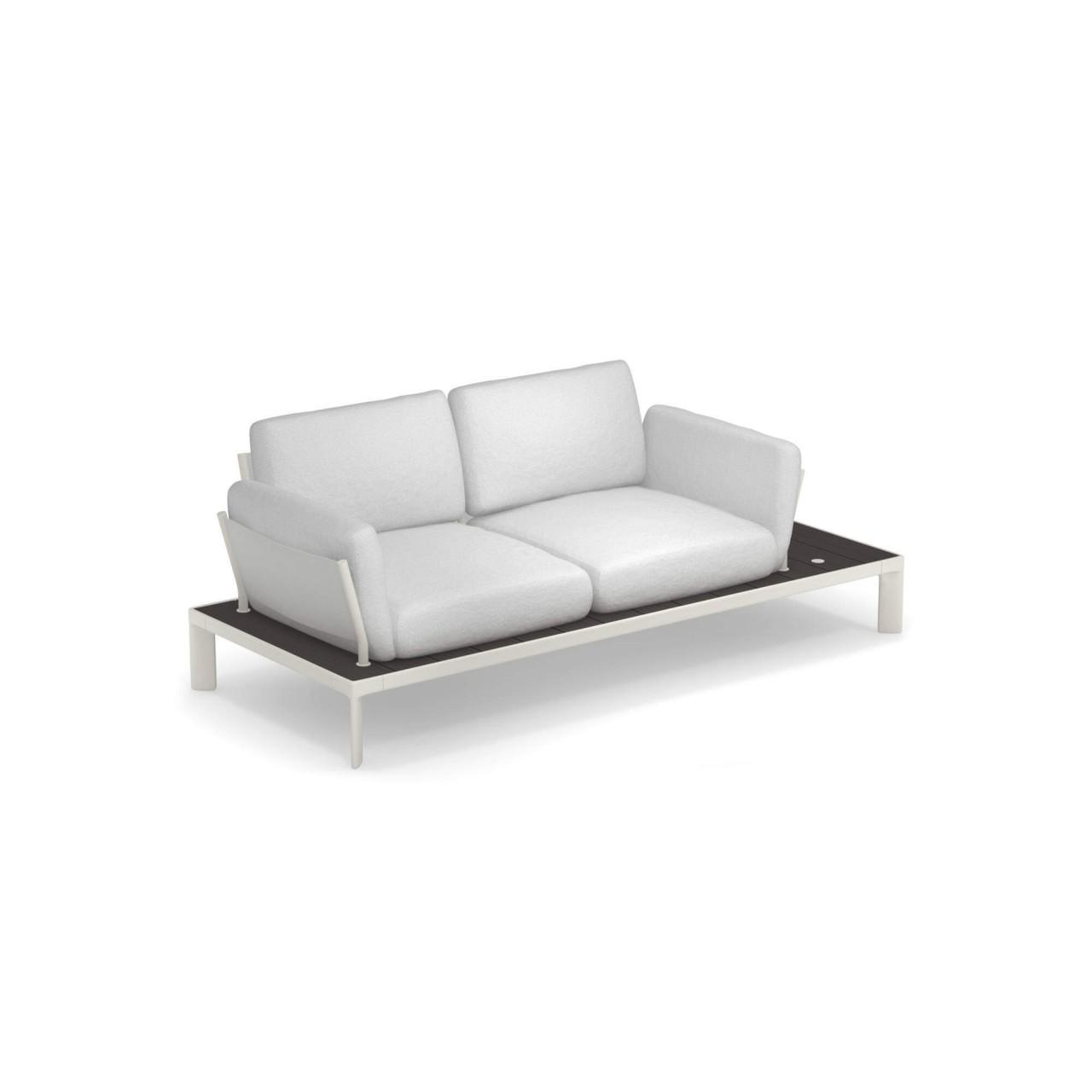emu Sofa 2-Sitzer Tami Weiß/Anthrazit günstig online kaufen