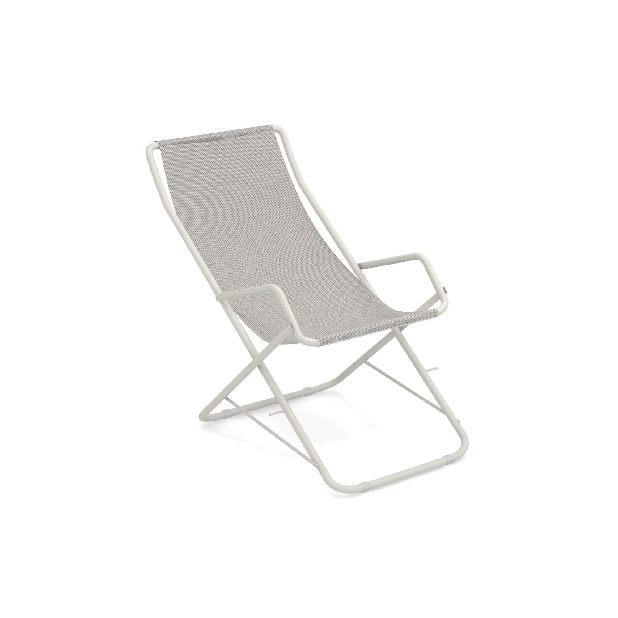 emu liegestuhl bahama wei grau online kaufen exclusive. Black Bedroom Furniture Sets. Home Design Ideas