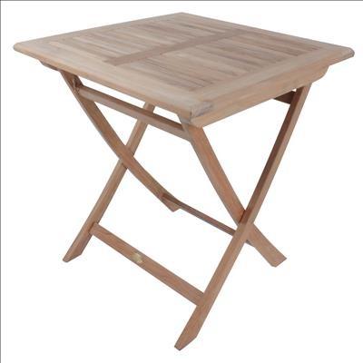 Tisch SOLO, quadratisch, 70x70 cm Teak