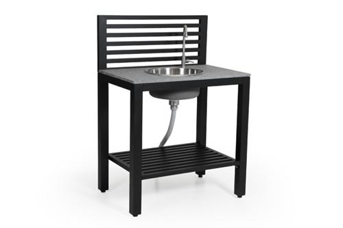 Steinplatte Outdoor Küche : Brafab bellac outdoorküche schwarz inkl. armatur und waschbecken