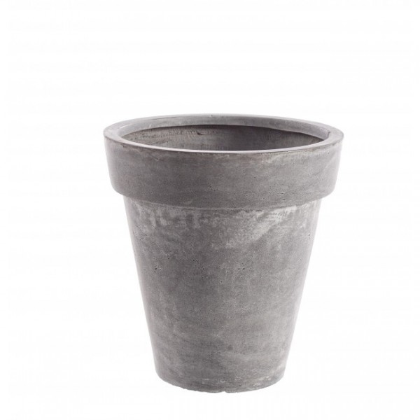Yes VASE CEMENT KLASSISH GRAU H38