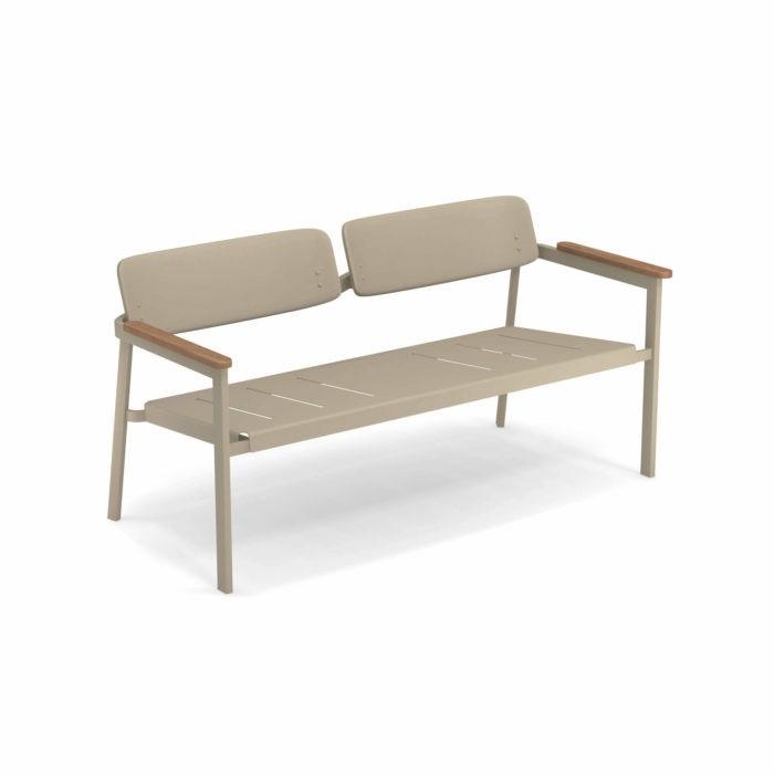 emu Sofa 2-Sitzer Shine Taupe günstig online kaufen