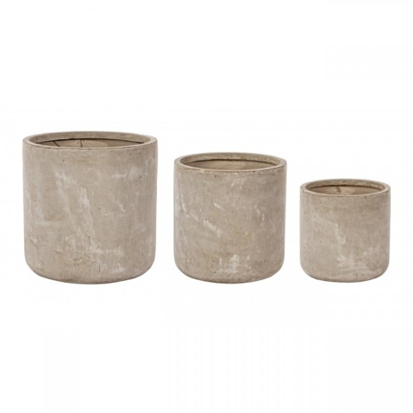 Yes SET3 VASE CEMENT ZYL SAND